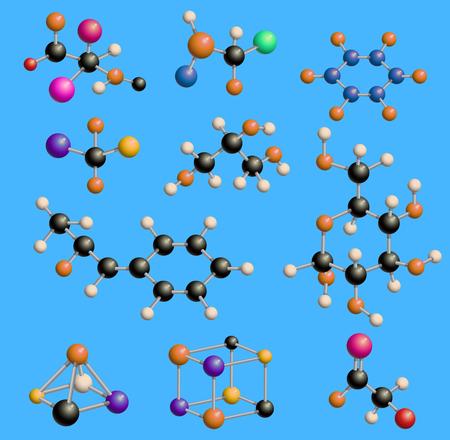 Illustration pour Molecule biology cell structure DNA vector - image libre de droit