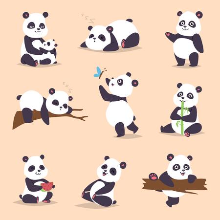 Illustration pour Panda cartoon character - image libre de droit