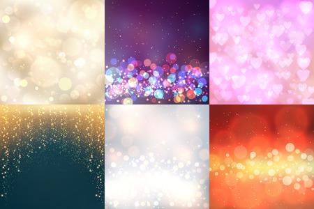Ilustración de Creative bokeh vector abstract trendy texture colorful blur backdrop background ornament illustration. - Imagen libre de derechos