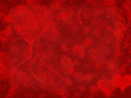 Foto de Red background with valentines hearts and copyspace - Imagen libre de derechos