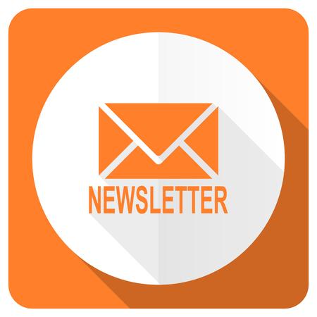 Photo pour newsletter orange flat icon - image libre de droit
