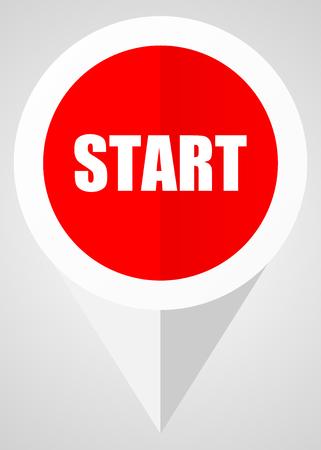Illustration pour Start vector icon - image libre de droit