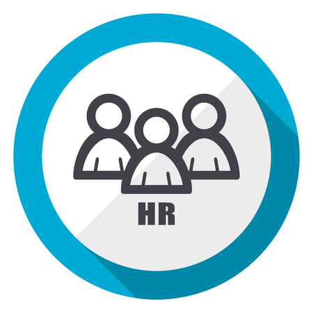 Photo for HR blue flat design web icon - Royalty Free Image