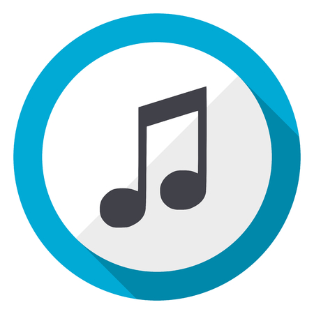 Photo for Music blue flat design web icon - Royalty Free Image