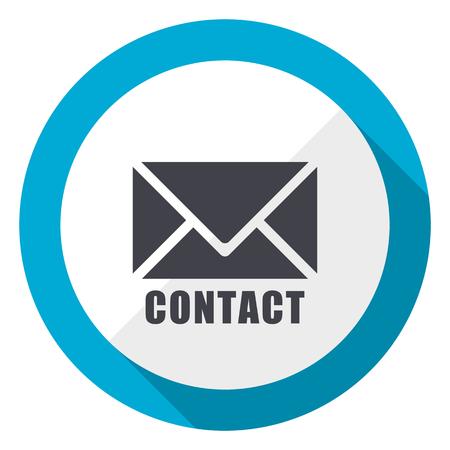 Foto de Email blue flat design web icon - Imagen libre de derechos