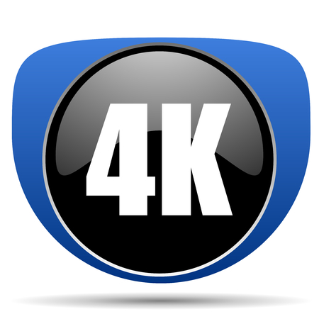 Photo for 4k web icon - Royalty Free Image