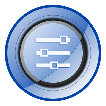 Photo for Slider blue glossy web icon - Royalty Free Image