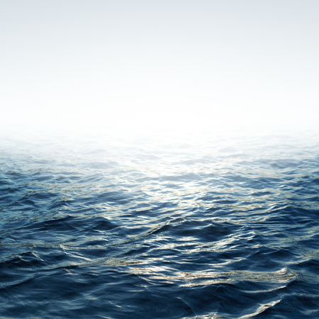 Foto de Blue sea with waves and clear blue sky - Imagen libre de derechos