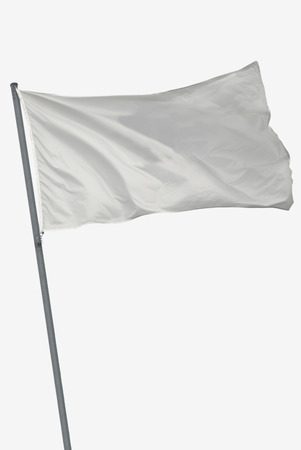 Photo pour Blank flag isolated in white waving on the wind - image libre de droit