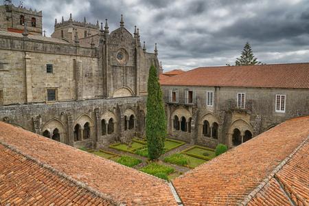 Foto de Cathedral of Tui, Camino de Santiago, Spain - Imagen libre de derechos