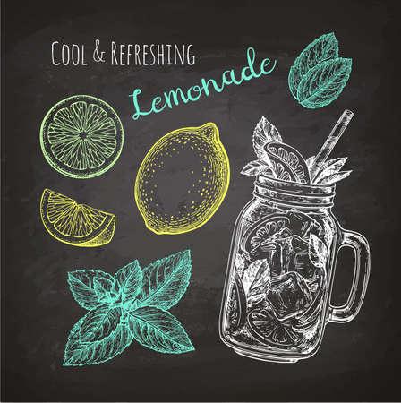 Ilustración de Chalk sketch of lemonade - Imagen libre de derechos