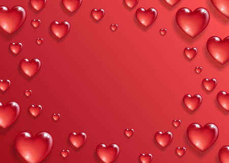 Illustration for Valentines day background. - Royalty Free Image