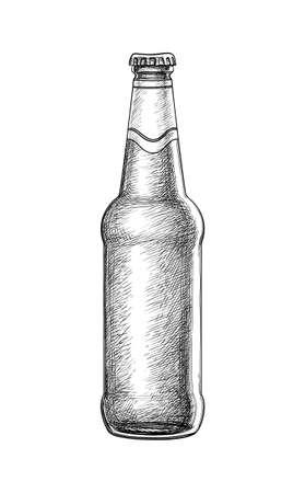 Illustration pour Hand drawn beer bottle. - image libre de droit