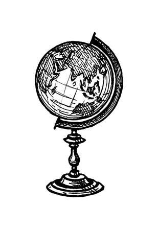 Illustration for Ink sketch of globe - Royalty Free Image