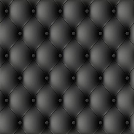 Black leather upholstery. Seamless illustration.