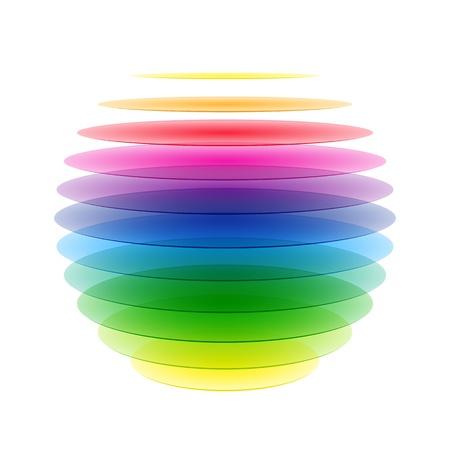 Photo pour Rainbow sphere - image libre de droit