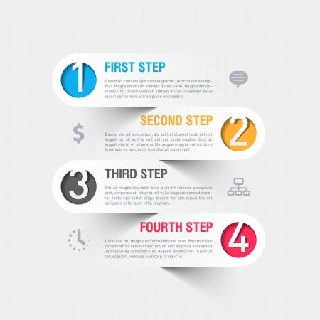 Illustration pour Modern business infographics template - image libre de droit