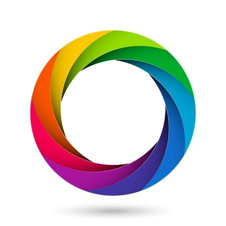 Ilustración de Colorful camera shutter aperture - Imagen libre de derechos