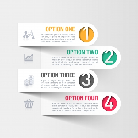 Illustration for Modern business infographics template - Royalty Free Image
