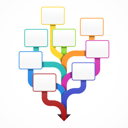 Ilustración de Blank business tree template for design, infographics or presentation - Imagen libre de derechos