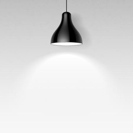 Illustrazione per Black ceiling lamp - Immagini Royalty Free
