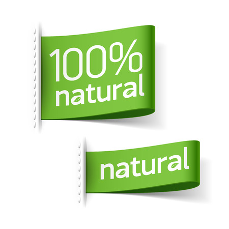 Illustration for Natural product labels - Royalty Free Image