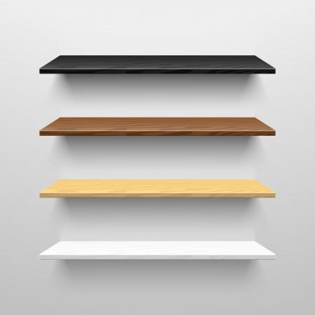 Illustration pour Wooden shelves - image libre de droit