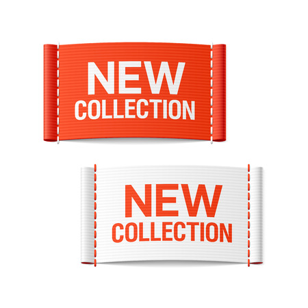 Illustration pour New collection clothing labels - image libre de droit