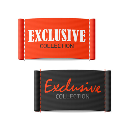 Illustration pour Exclusive collection clothing labels - image libre de droit
