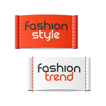 Illustration pour Fashion style and Fashion trend clothing labels - image libre de droit