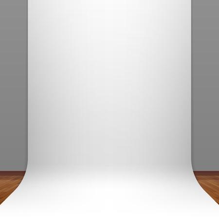Illustration for White paper studio backdrop - Royalty Free Image