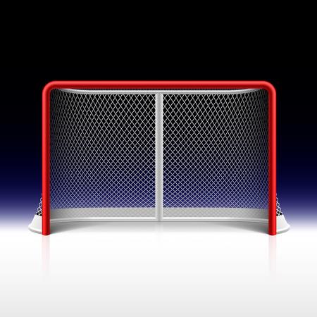 Illustration pour Ice hockey net, goal on black - image libre de droit