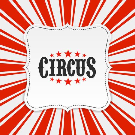 Illustration pour Circus poster background - image libre de droit