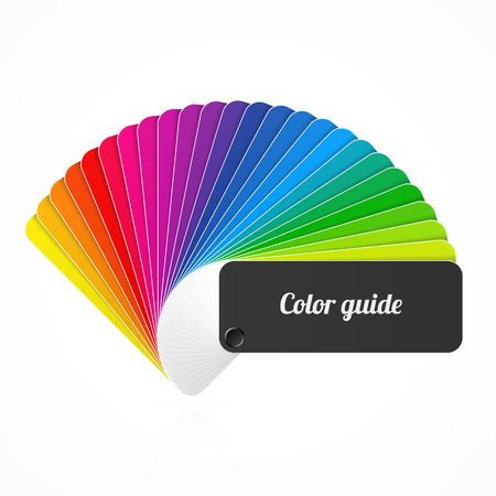 Illustration for Color palette guide, fan, catalogue - Royalty Free Image