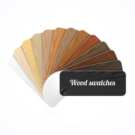Wood color swatches, guide, samples, fan