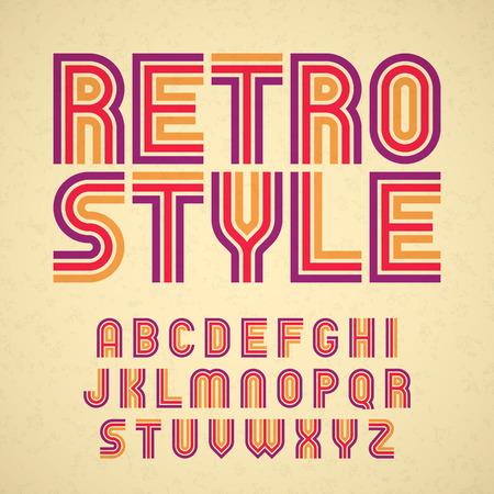 Photo for Retro style alphabet - Royalty Free Image
