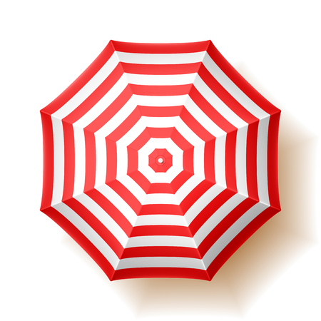 Illustration for Beach umbrella, top view - Royalty Free Image