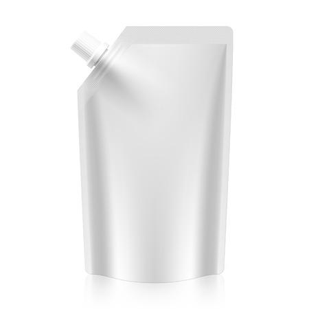 Illustration pour Blank spout pouch, bag foil or plastic packaging - image libre de droit