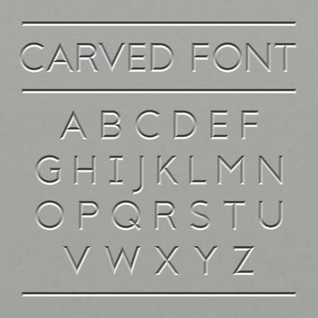Ilustración de Carved font design - Imagen libre de derechos