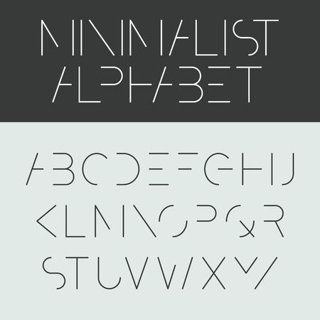 Illustration for Minimalist alphabet  Font design  - Royalty Free Image