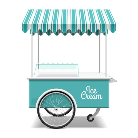 Illustration for Ice cream cart - Royalty Free Image