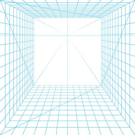 Illustration pour Perspective grid - image libre de droit