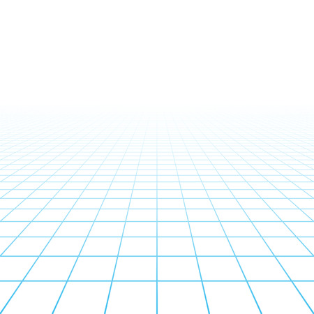 Illustration pour Perspective grid background - image libre de droit