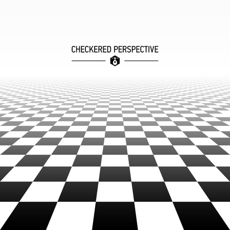 Illustration pour Checkered perspective background - image libre de droit