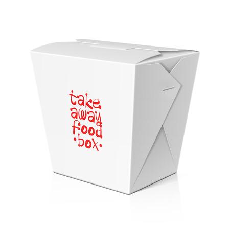 Illustration pour Take away food, noodle box template - image libre de droit