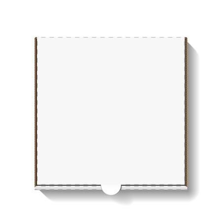 Illustration pour Cardboard pizza box for your design - image libre de droit