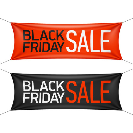 Illustration for Black Friday Sale banner - Royalty Free Image