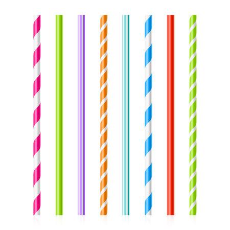 Ilustración de Colorful drinking straws - Imagen libre de derechos