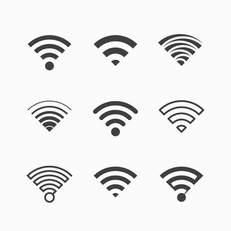Illustration pour Wireless, Wi-Fi icons - image libre de droit