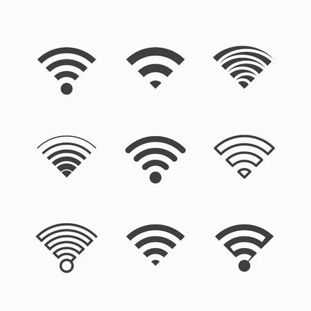 Ilustración de Wireless, Wi-Fi icons - Imagen libre de derechos